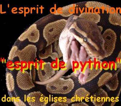 L'esprit de divination dans les églises (esprit de python)