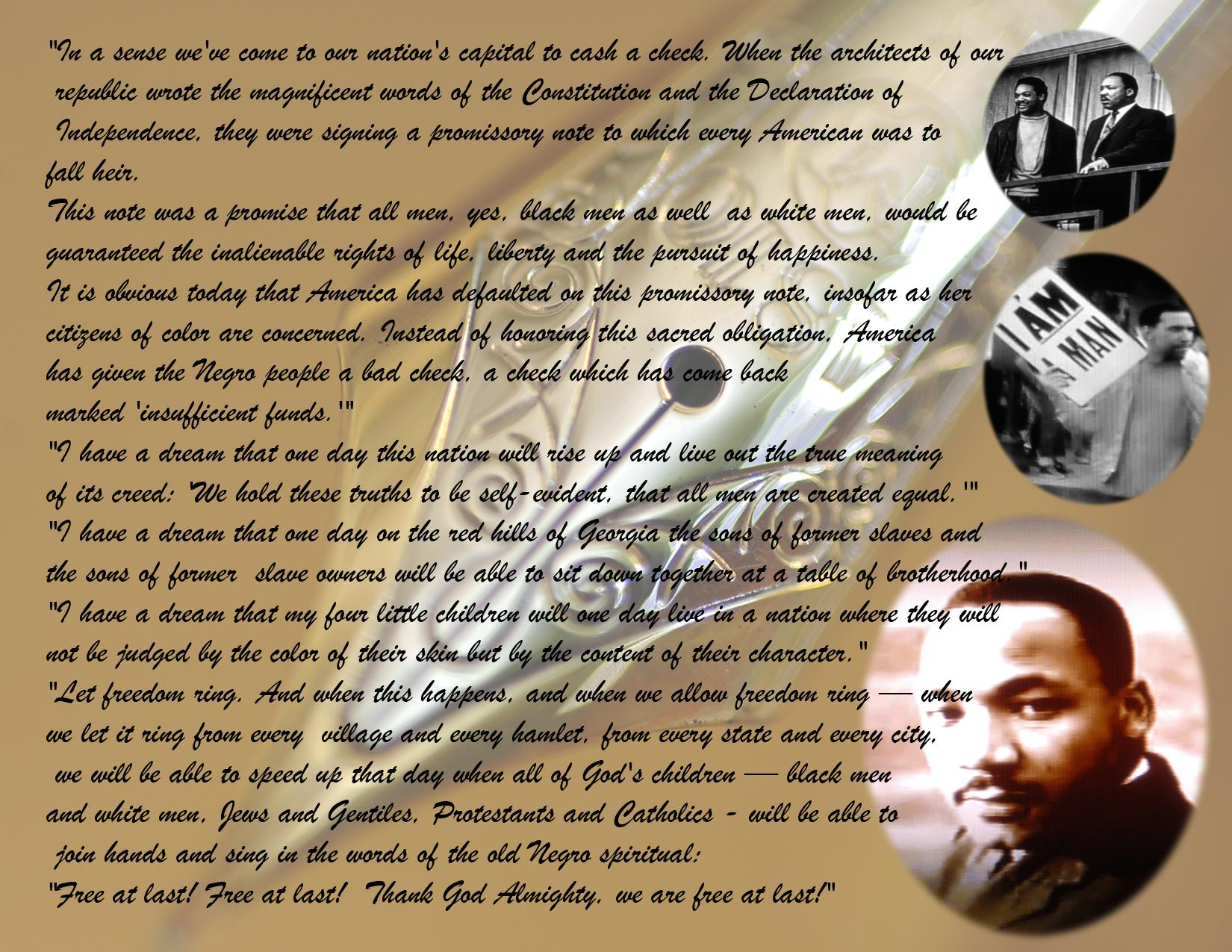 Luther Martin Speech I Have a Dream
